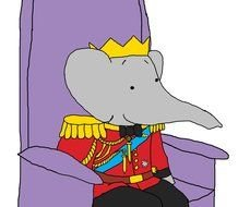 elephant King On Throne drawing
