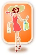 Ladies Shopping Clip Art drawing