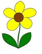 yellow flower as a graphic illustration