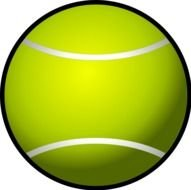 clipart of the Tennis Ball