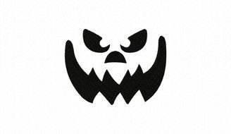 Scary pumpking face clipart