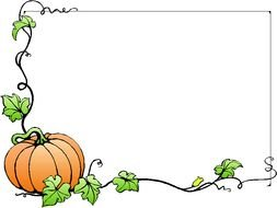 Clipart of Fall Pumpkin Border