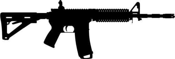 AR-15 - American semi-automatic rifle