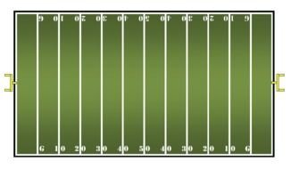 Black And White Drawing Of The Football Field Clipart Free Image