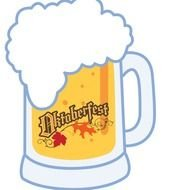 Beer Mug Clip Art drawing