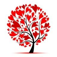 red Heart Tree with a heart drawing