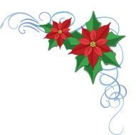 Christmas Poinsettia border drawing