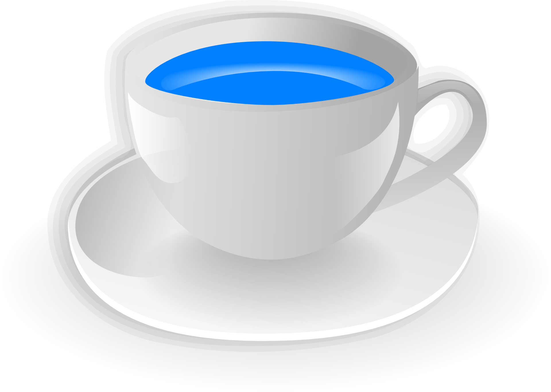 Cup Saucer Drink Drawing Free Image