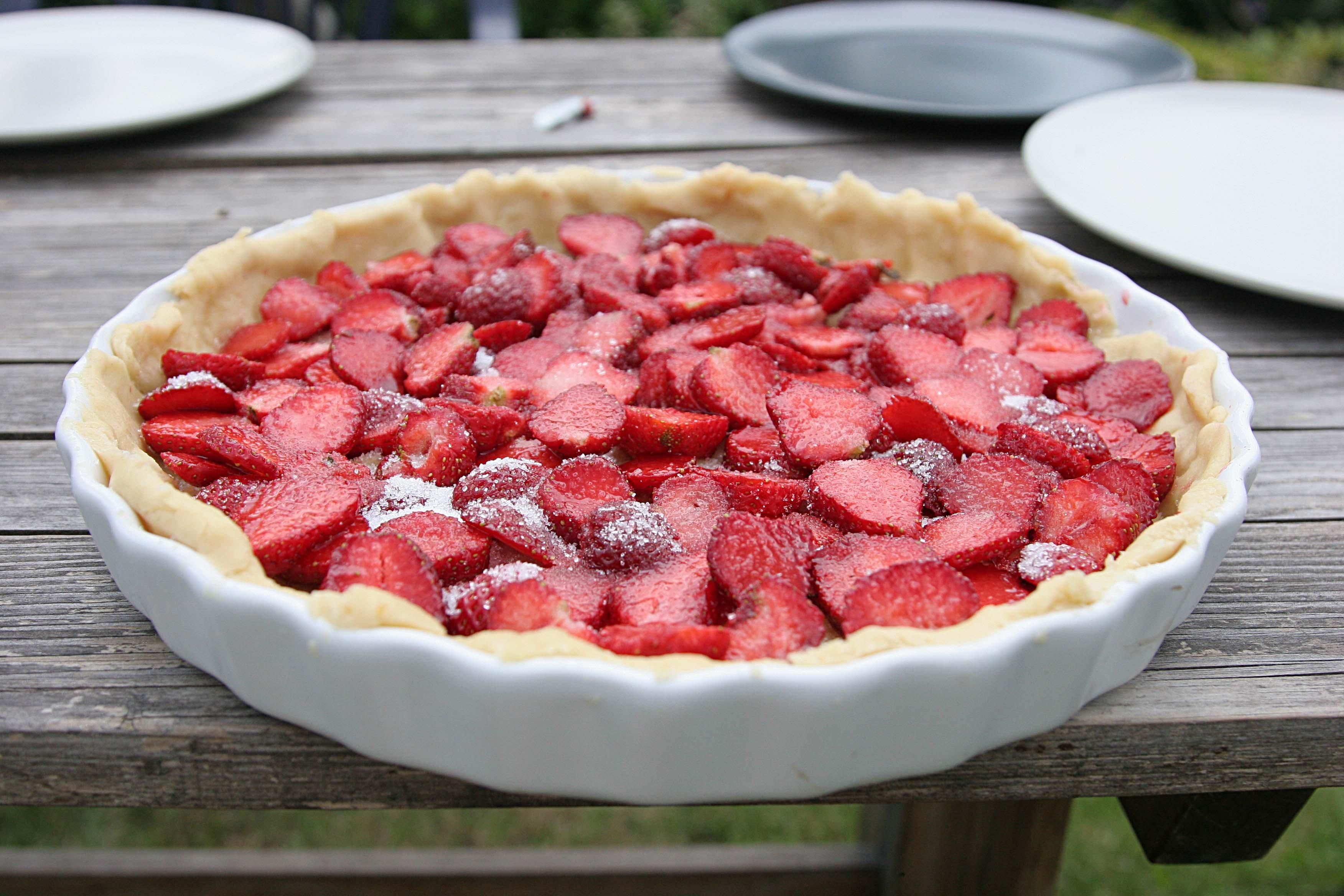 strawberry blackberry pie - HD3504×2336