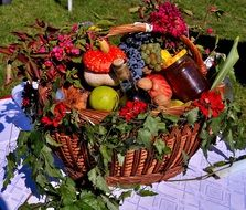 fruit basket as an autumn crop
