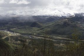 panorama of the valley top view