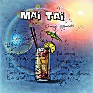 summer mai tai cocktail