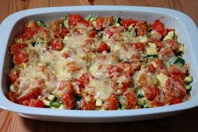 vegetable casserole with cheese