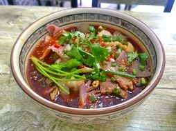bowl of asian soup