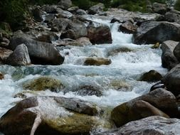 mountain stream in Italy