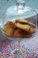 homemade cookies in a glass container