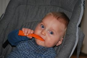 Baby with the spoon