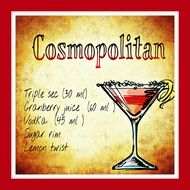 cosmopolitan cocktail for party in summer
