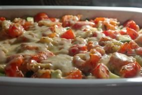 cheese casserole with vegetable