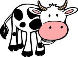 graphic image of a black-white cow