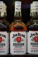 jim beam whisky bottles