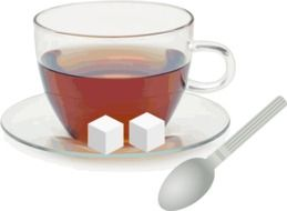 tea cup and cubes sugar
