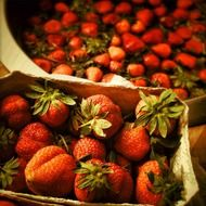 strawberries delicious red sweet