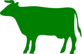 painted green cow