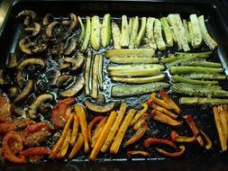 Antipasto - traditional hot meat-vegetable snack in Italian cuisine