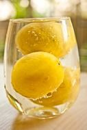 lemons in a glass