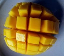 mango cut open
