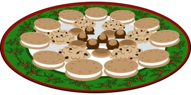 cookies on the Christmas plate