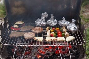 barbecue on the coals