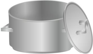 graphic image of gray pans