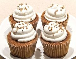 carrot cupcakes cream cheese walnuts