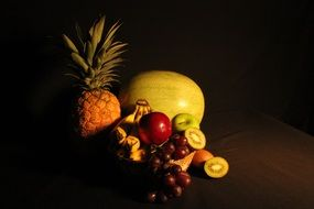 still life of exotic fruits