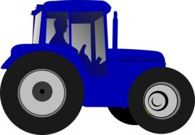 farmer tractor drawing