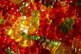 colorful fruit jelly gummi bears
