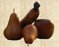 Fruits made with wood
