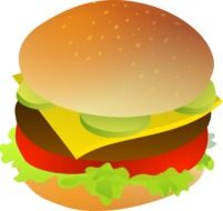burger, fast food illustration