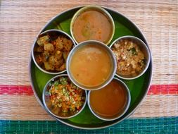 Thali - a dish of Indian and Nepalese cuisine