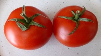tomatoes with green tails