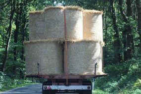 transportation of straw bales