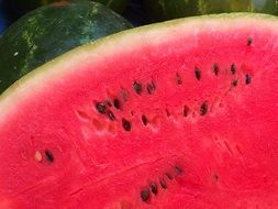 red juicy watermelon flesh