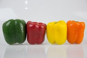 red yellow orange green pepper vegetables