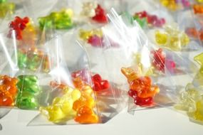 gummi bears packed in sachets