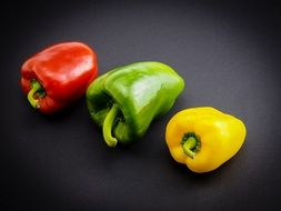 yellow red green paprika vegetables