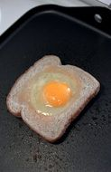 egg on bread for breakfast