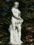 Sculpture of the Bacchus in Schwetzingen
