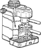 drawing of a coffee machine